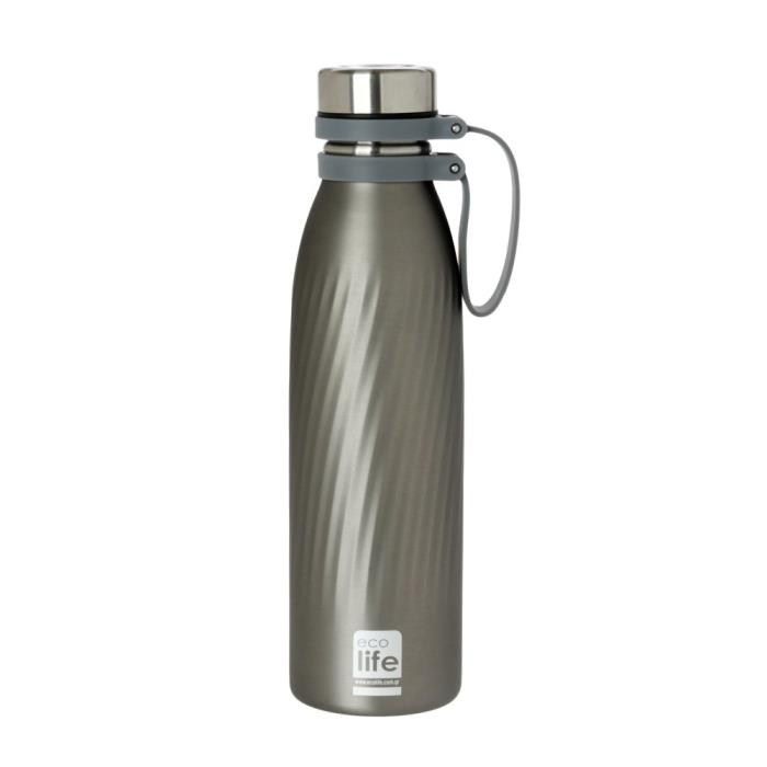 LIFE GREEN ΜΕΤΑΛΛΙΚΟ THERMOS 500 ML COOL GREY